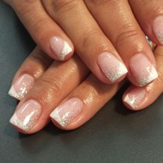 Wedding Nails ♡♡ Light Elegance/hard gel nails Instagram: styleandgracesalon  Facebook: Gel Nails By Nichole