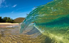 Download wallpapers wave, tropical island, summer, vacation, travel, ocean, water, palm, beach