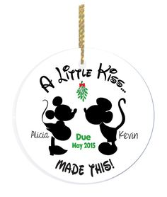 Expecting Christmas Ornament  Pregnancy Announcement