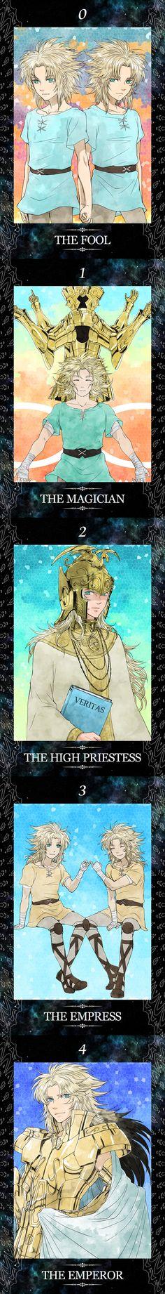 Part One Saint Seiya Gemini Story Tarot Cards