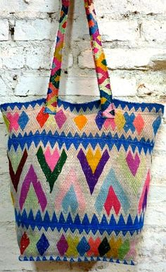 Woven colourful bag