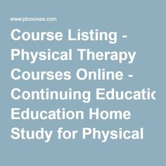 coursework for educational therapy A website for the state of california physical therapy board skip to continuing education courses continuing competency coursework completed must be offered.