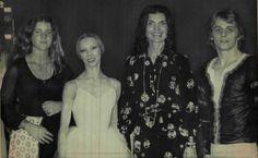 Caroline Kennedy, Natalia Makarova, Jacqueline Kennedy Onassis, and Baryshnikov