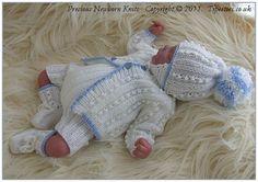 Baby Knitting Pattern Newborn Baby Boys por PreciousNewbornKnits