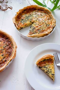 Wild garlic cheese tart - My CMS Vegan Breakfast Recipes, Brunch Recipes, Quiches, Cheese Tarts, Garlic Cheese, Wild Garlic, Winter Vegetables, Healthy Food List, Tartan