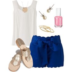 """""""Scallops"""" by thevirginiaprep on Polyvore"""