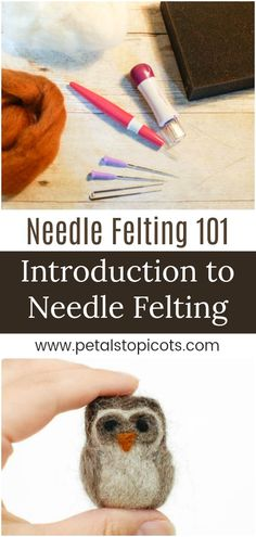 I can't wait to dig into this Introduction to Needle Felting with you! If you follow along with me on Instagram you know how much I love needle felting.There is just something so relaxing about it ... taking a handful of fluffy wool, poking it until it molds into the shape you want. #petalstopicots