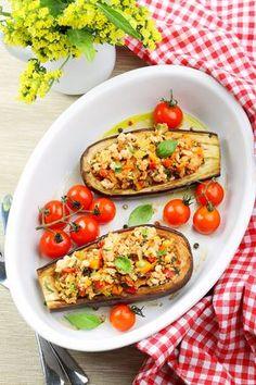 Dietetyczny obiad - bakłażan