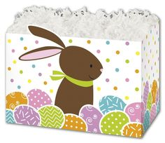 Patterned Specialty and Event Boxes - Chocolate Bunny Gift Basket Boxes, 6 x 4 x Boxes) - -- Find out more about the great product at the image link. Chocolate Bunny, Chocolate Box, Boxes And Bows, Easter Crafts For Kids, Small Boxes, Craft Stick Crafts, Box Design, Gift Baskets, Diy Gifts