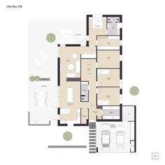 Like the master arrangement. Push living/kitchen area out so square, too narrow. Villa Box - arkitekttegnet hus - IDEALHUSE A/S Dj Board, Bauhaus, Exterior Design, Future House, Planer, Facade, Living Spaces, House Plans, Sweet Home