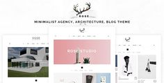 Rose - Minimalist Agency, Architecture, Blog Theme