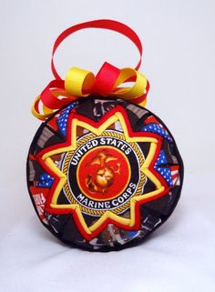 Marines Quilted Ornament Patriotic Fabric Q109 by CartersCrafts12