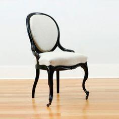 Set Of 4 Napoleon III Ebonized Side Chairs, France,