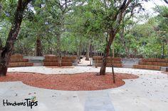 El anfiteatro está ubicado en el corazón del Jardín Botánico.