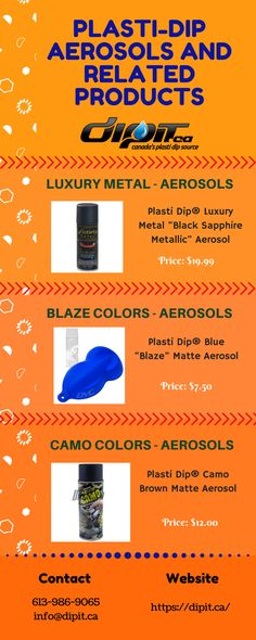 If you want to purchase Plasti-Dip Aerosols or any other related products then DipIt in Canada can be the best place to buy any plasti dip products in affordable price. Blue Blaze, Camo Colors, Black Sapphire, The Good Place, Dips, Diy And Crafts, Canada, Good Things, Stuff To Buy