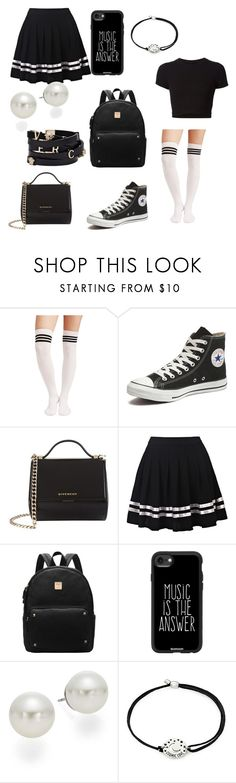 """""""Untitled #98"""" by kirsteinsmith ❤ liked on Polyvore featuring Getting Back To Square One, Converse, Givenchy, Casetify, AK Anne Klein, Alex and Ani and Versace"""