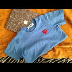 CDG PLAY T SHIRT too small for me, fits like an XS. worn once -- AUTHENTIC!!!!! Comme des Garcons Tops Tees - Short Sleeve