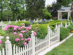 Picket Fence Go for the classic garden fence that we all know and love. You can keep it white, or paint it any fun color that you want. Add a hinged door to make it even better! - My Cottage Garden Picket Fence Garden, Small Garden Fence, Picket Fence Panels, Front Yard Fence, Garden Fencing, Low Fence, White Picket Fences, Short Fence, Fence Plants