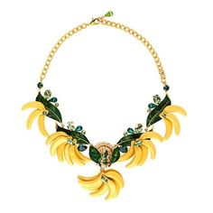 Dolce & Gabbana Cerimonia banana necklace (13.735 HRK) ❤ liked on Polyvore featuring jewelry, necklaces, gold multi, leaf jewelry, leaves jewelry, leaves necklace, glitter necklace and dolce gabbana necklace