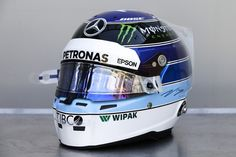 """バルテリ・ボッタス、F1モナコGPで""""ハッキネン仕様""""のヘルメット  [F1 / Formula 1] Racing Helmets, F1 Racing, Motorcycle Helmets, Jochen Rindt, Valtteri Bottas, Helmet Paint, Sport One, Custom Helmets, Helmet Design"""
