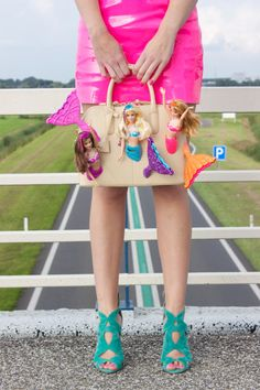 Barbie Mermaid Handbag Bag Purse Clutch Beige Doll by rommydebommy