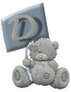 Alfabeto Me to You Bears con rótulo.   Oh my Alfabetos!