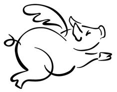 free flying pig clipart flying pig outline pigs pinterest rh pinterest com  flying pigs clip art free