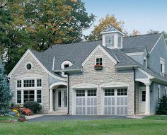 HGTV Remodels shares pictures of beautiful garage doors. Garage Door Windows, Garage Door Design, Garage Exterior, Best Interior Design Websites, Window Inserts, Garage Door Springs, Garage Door Makeover, Door Picture, Stucco Homes