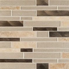 With gorgeous Champagne Toast, it's easy to add a splash of contemporary styling to your décor. This striking warm-toned mosaic blends glass, brushed metal, and marble to create unique designs in any space.