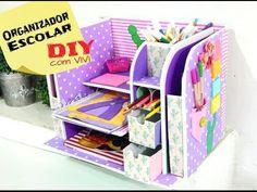 DIY/ Organizador Escolar / Especial dia das Crianças - YouTube