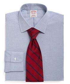 Supima® Cotton Non-Iron Regular Fit Ainsley Collar Dress Shirt - Brooks Brothers