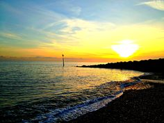 Sunset in Hythe Bay