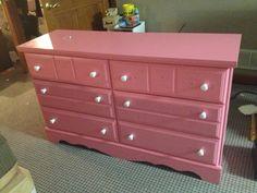 Painted dresser for Audrey's room (was originally oak!!)