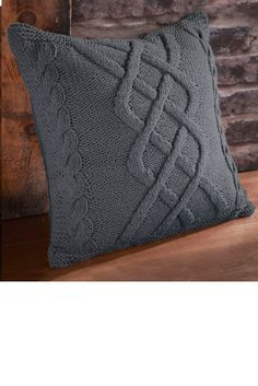 coussin tricot 100 acrylique 60x60cm wool endroits. Black Bedroom Furniture Sets. Home Design Ideas