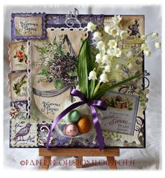 Love this! Secret Garden - Easter Card by Paper Profusion!