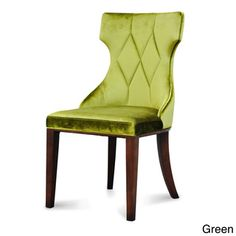 Make a striking statement when you put these Regis velvet dining chairs in a room. The timeless, delicate cotton velvet blend gives an air of elegance to your home. The legs of the chair are finished
