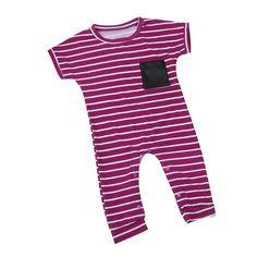 aa2ebb4b16eb9 Purple Striped Jumpsuit. Toddler Girl OutfitsToddler Boy RomperCute Baby ...