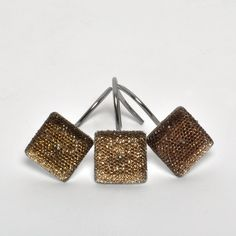 Espresso-colored Crystal Shower Curtain Hooks (Set of Twelve) | Overstock.com