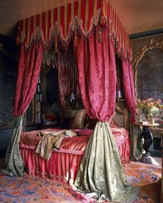 An exquisite bedchamber conjured by the divine Tony Duquette.