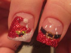 sparkly Christmas nails