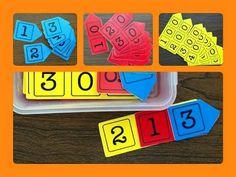 Material para enseñar unidades decenas y centenas a niños