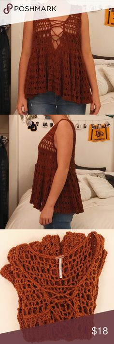 FREE PEOPLE rust tank FREE PEOPLE rust colored tank. SUPER cute and perfect for all seasons! Free People Tops Tank Tops