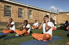 SevaUnite is an organization that brings mindfulness yoga to South Africa's prisons. How does it work and does it really help the inmates? Picnic Blanket, Outdoor Blanket, Sketchbook Project, Epic Photos, The Guardian, Prison, South Africa, Stress, Bring It On