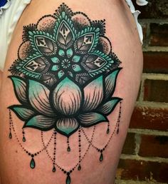 55 Pretty Lotus Tattoo Designs For Creative Juice-Floral tattoos are always very popular among women. Today, we are talking and sharing tons of pretty lotus flower tattoos with you!Lotus tattoos are some of the most popular tattoo designs out there not on Lotus Tattoo Design, Lotus Design, Cool Shoulder Tattoos, Shoulder Tattoos For Women, Mandala Tattoo Shoulder, Thigh Tattoos For Women, Cover Up Tattoos For Women, Tattoos Cover Up, Mandala Tattoos For Women