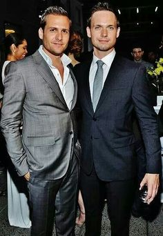 Gabriel Macht & Patrick J Adams from suits such an awesome show! Serie Suits, Suits Tv Shows, Gorgeous Men, Beautiful People, Patrick J Adams, Suits Harvey, Gabriel Macht, Harvey Specter, Sharp Dressed Man
