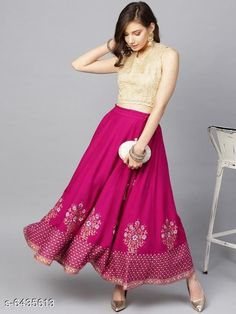 Skirts Stylish printed Women's Skirts Fabric: Net Pattern: Embellished Multipack: 1 Sizes:  Free Size (Waist Size: 28 in, Length Size: 40 in) Country of Origin: India Sizes Available: 50, 52, Free Size, 32, 34, 36, 38, 40, 42, 44, 46   Catalog Rating: ★4 (3230)  Catalog Name: Women Western Skirts CatalogID_1023967 C79-SC1040 Code: 562-6435613-885