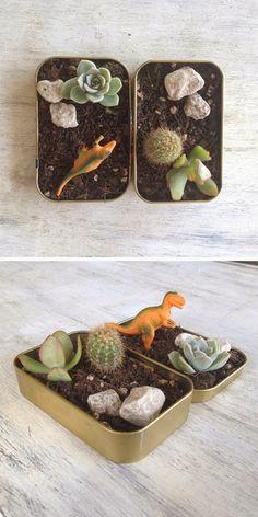 #DIY #HOWTO  Cómo hacer un mini #macetas con #cajas #metálicas para #caramelos  #ecología #reciclar #reutilizar