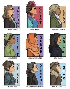 Marie Curie, Rosa Parks, Harriet Tubman, Ruth Bader Ginsburg, Carrie Fisher, Feminist Art, Karen, Badass Women, Real Women