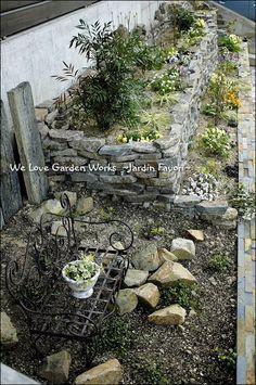 上から見た花壇 Garden Works, Love Garden, Planter Beds, Garden Planters, Garden Paths, Garden Styles, Beautiful Gardens, Terrace, Backyard