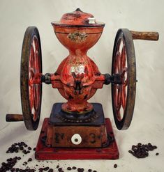 The condition is good, but used and aged. The grinding goes smoothly with nice middlefine coffee powder. The grinder can be used daily, but for display it is also very gorgeous piece. Kitchen Grinders, Coffee Grinders, Coffee Mugs, Le Moulin, Vintage Coffee, Cast Iron, Canning, Grinding, Philadelphia